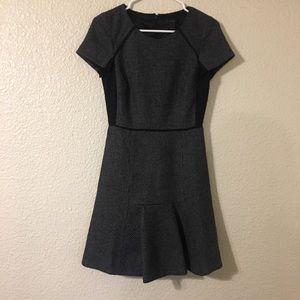 Black J Crew Pleated Dress Business Casual Sz 0